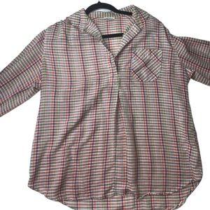 Vintage Levi's Henley Cotton Shirt Plaid 16w